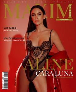 ALINE CARA LUNA COVER GIRL MAXIM FRANCE BELGIQUE