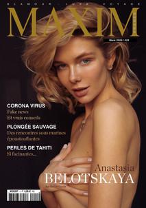 ANASTASIA BELOTSKAYA COVER GIRL MAXIM FRANCE BELGIQUE