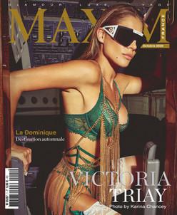 VICTORIA TRIAY COVER GIRL MAXIM FRANCE BELGIQUE