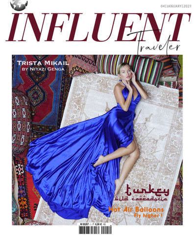 TRISTA MIKAIL COVER GIRL INFLUENT TRAVELER
