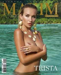 TRISTA MIKAIL COVER GIRL MAXIM FRANCE BELGIQUE
