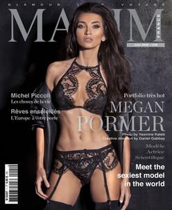 MEGAN PORMER COVER GIRL MAXIM FRANCE BELGIQUE