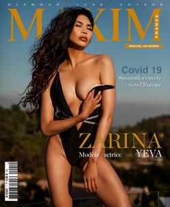 ZARINA YEVA COVER GIRL MAXIM FRANCE BELGIQUE