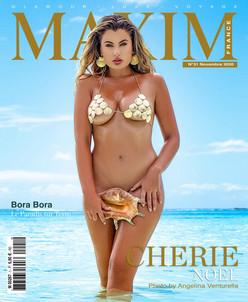 CHERIE NOEL COVER GIRL MAXIM FRANCE BELGIQUE