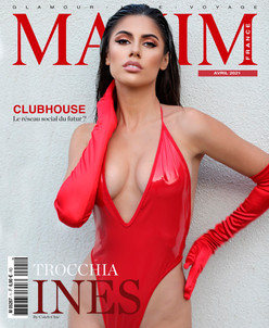 INES TROCCHIA COVER GIRL MAXIM FRANCE BELGIQUE