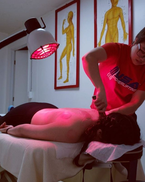 Gua Sha along side of cupping relieves muscle tension built from sitting at a desk all day or from tho