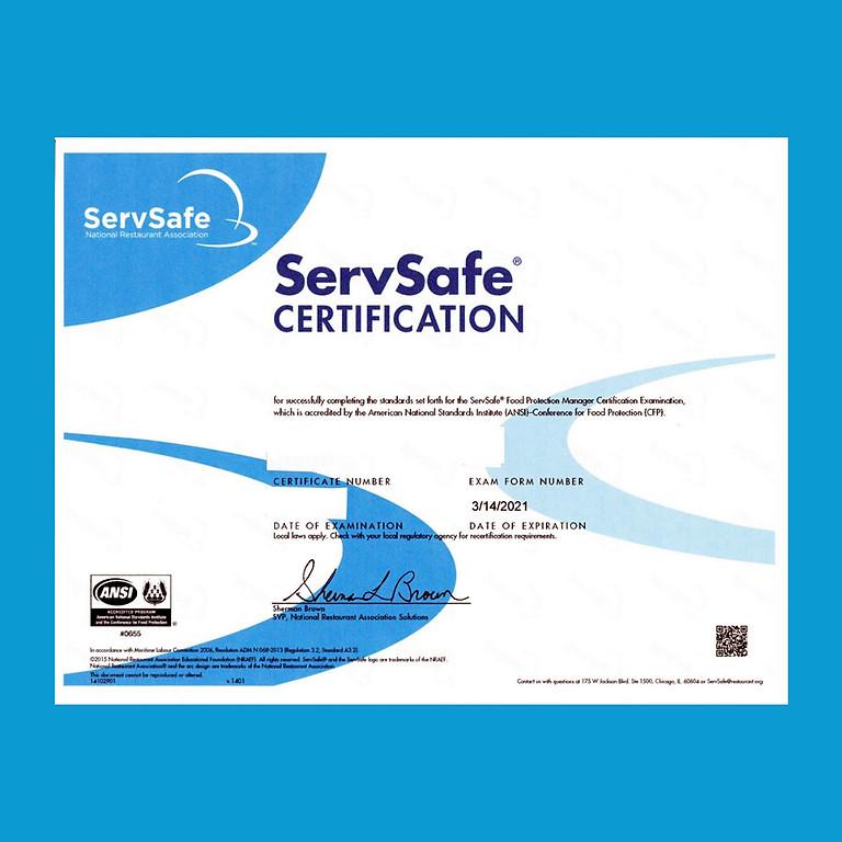 ServSafe Manager Class and Examination