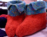 yarn wool felted slippers