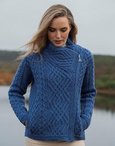 Merino Wool Cross Zip Sweater