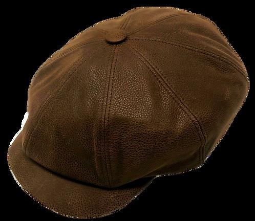 Kingston-L Leather Newsboy