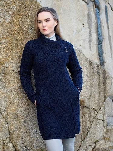 Merino Wool Cross Zip Coat