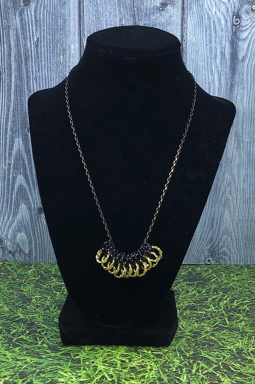 Black and Gold Twisted Wire Loops