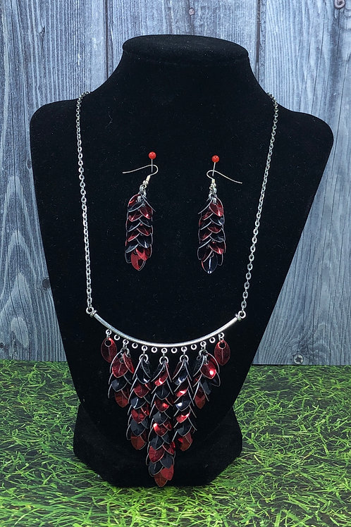 Queen of Hearts Necklace and Earring Set