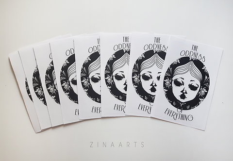 """""""THE ODDNESS OF EVERYTHING"""" STICKERS"""