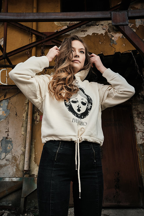 """CROPPED HOODIE SWEATSHIRT """"THE ODDNESS OF EVERYTHING"""""""