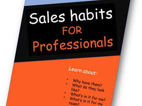 Sales habits for professionals