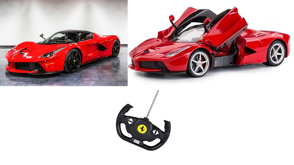 Ferrari compared to RC model