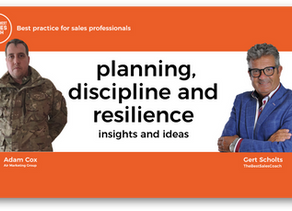 Building sales resilience and discipline make sales