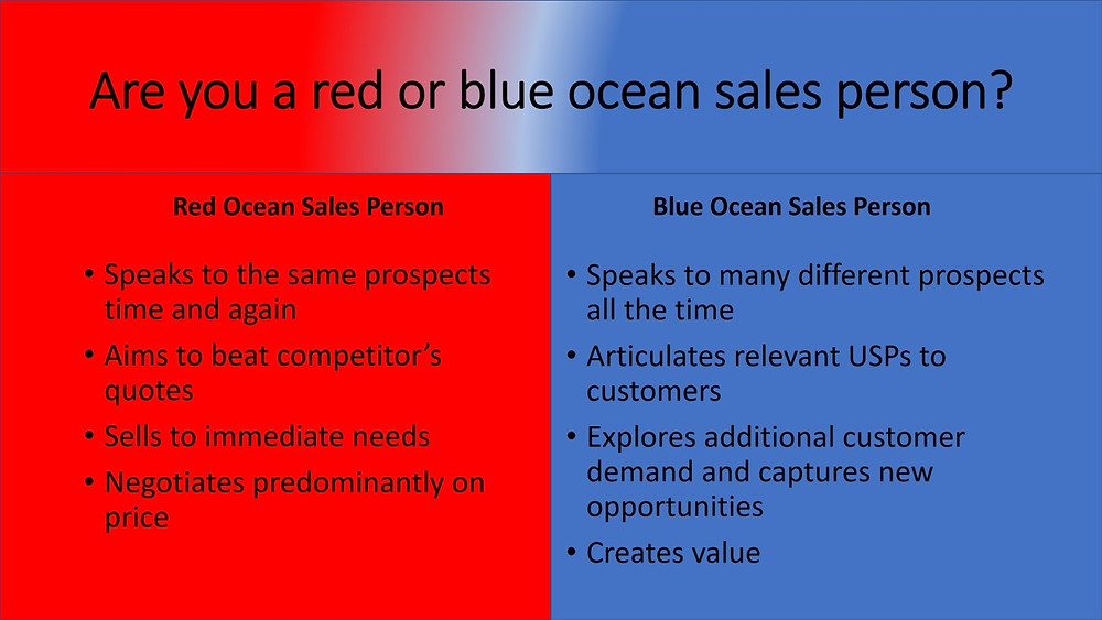 Red or Blue sales approach pic