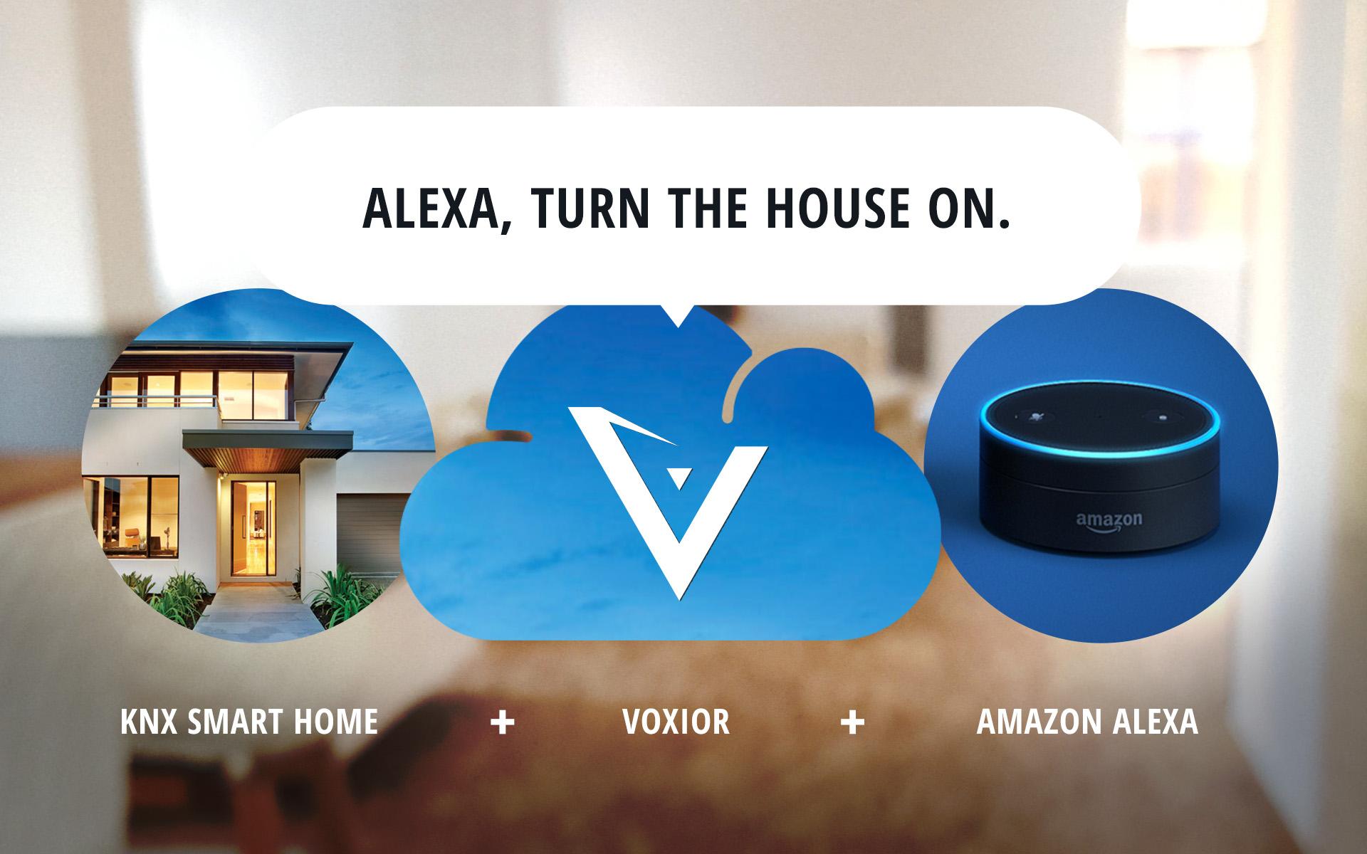 voice control for knx smart home voxior. Black Bedroom Furniture Sets. Home Design Ideas