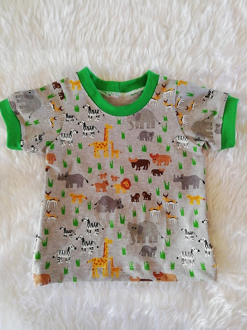 6 to 9 month jungle t shirt