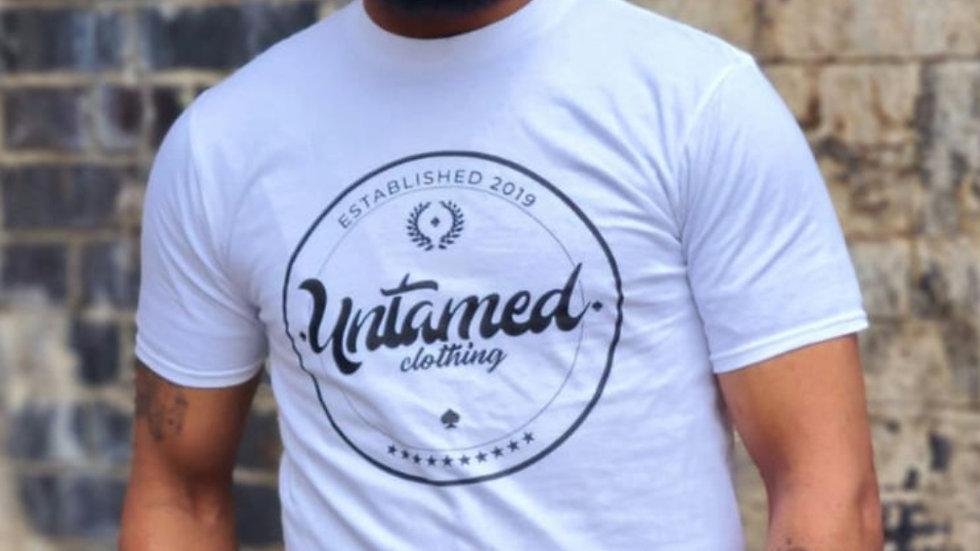 White logo printed tshirt.