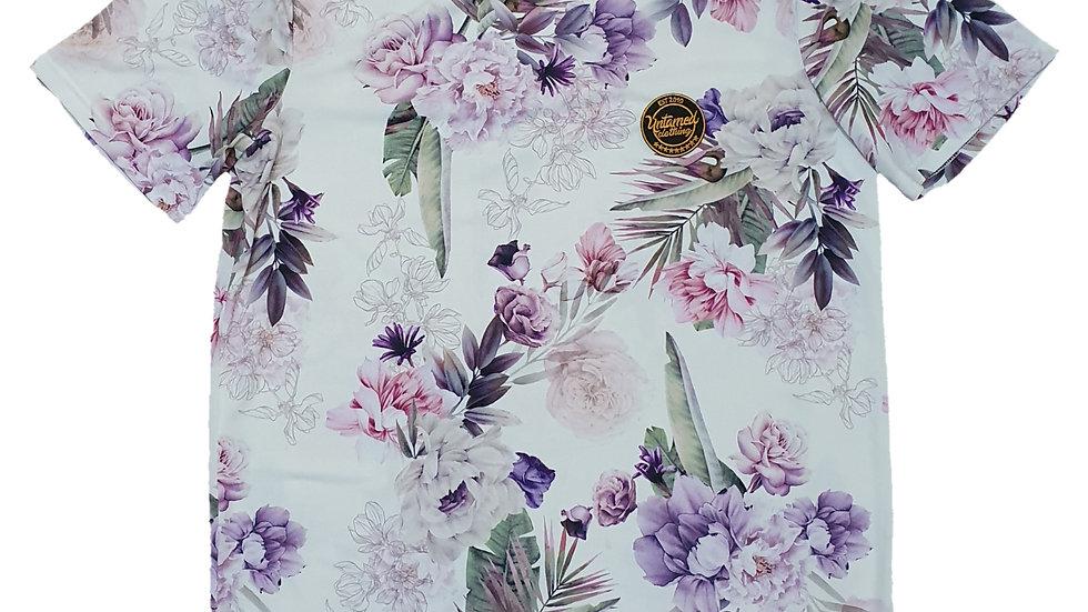 Purple floral tshirt