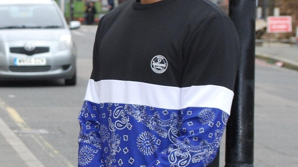 Stripe Blue bandana sweater