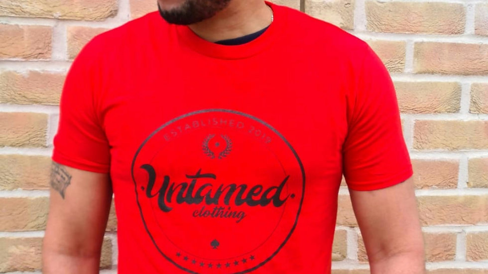 Red printed tshirt