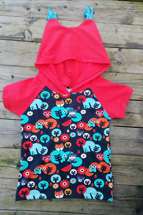 Cute handmade hooded t shirts from £12