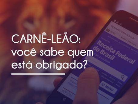 CARNÊ-LEÃO WEB: ENTENDA COMO FUNCIONA E A QUEM SE APLICA