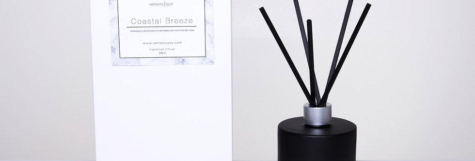 Matte Black 200ml Fragranced Reed Diffuser