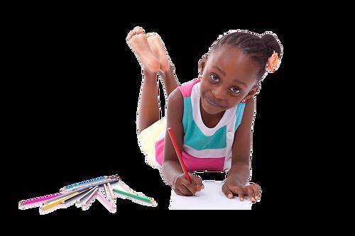 Africa American Child in Speech Therap