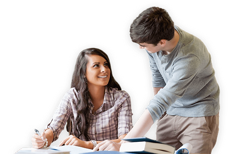 Student getting help from extra lessons tutor