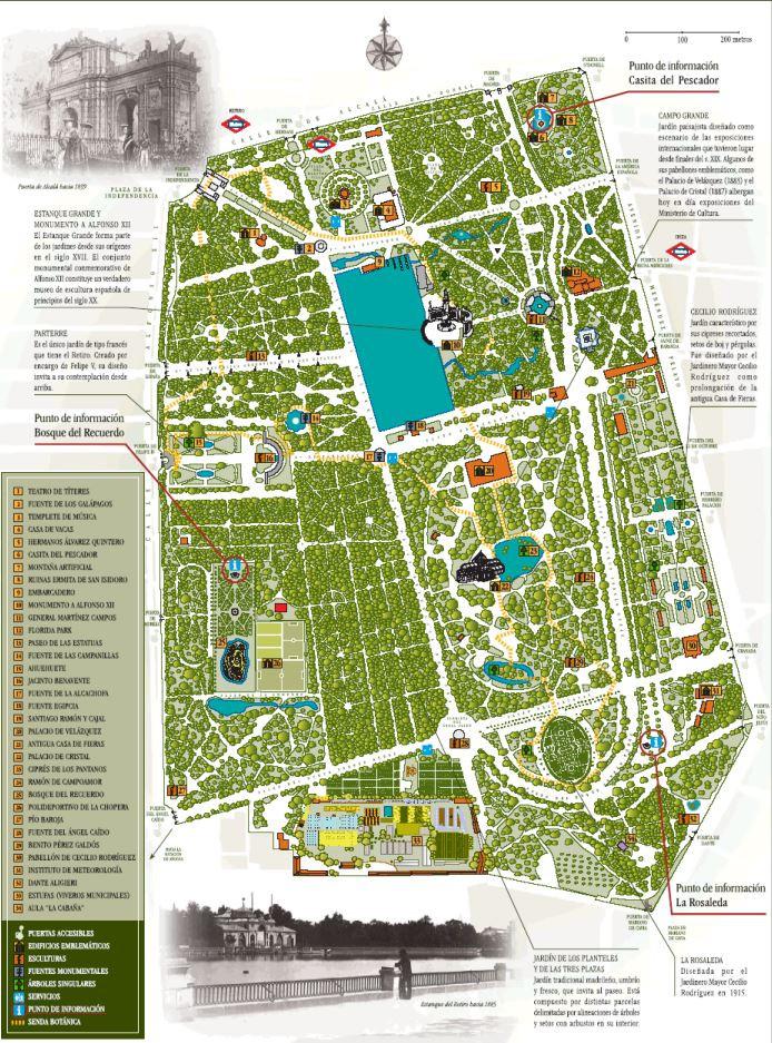Mapa Parque Del Retiro