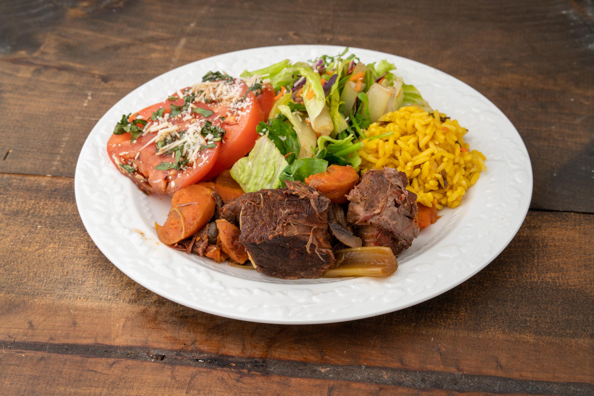 pot roast with wild greens salad wild fi
