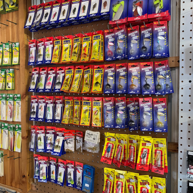 lures in our tackle shop