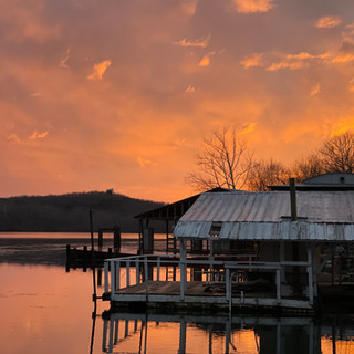 Gorgeous dock sunset