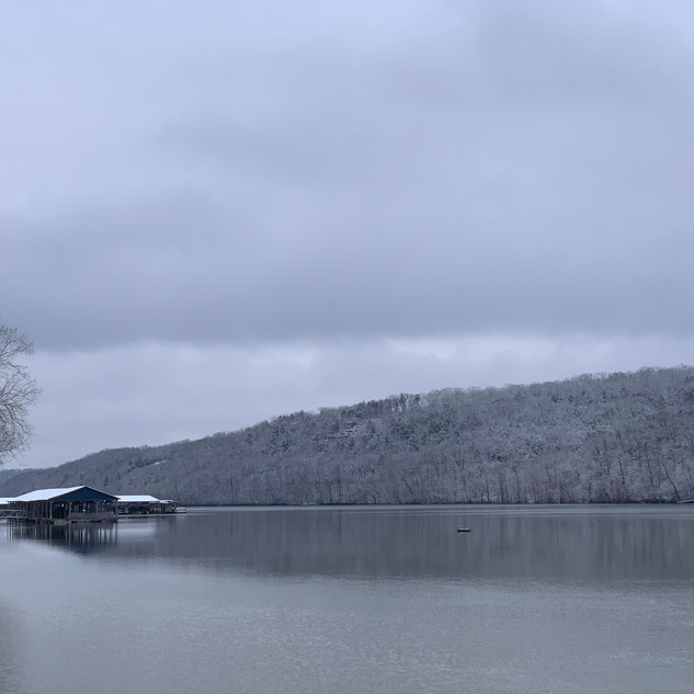 Chilly view from Lake Taneycomo