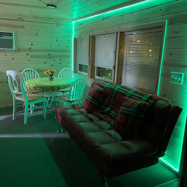Green LED's in cabin 12