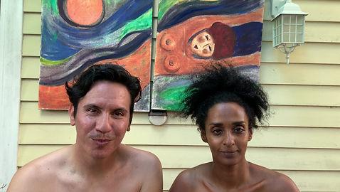 Newlyweds Aramis Ikatu and Su Nubia