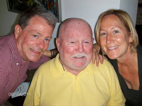 """Charlie with """"his"""" two Executive Directors: Frank and Rebecca"""
