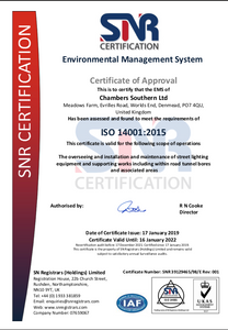 ISO14001:2015 is the international standard for Environmental Management Systems