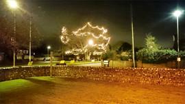 Installing festive lights