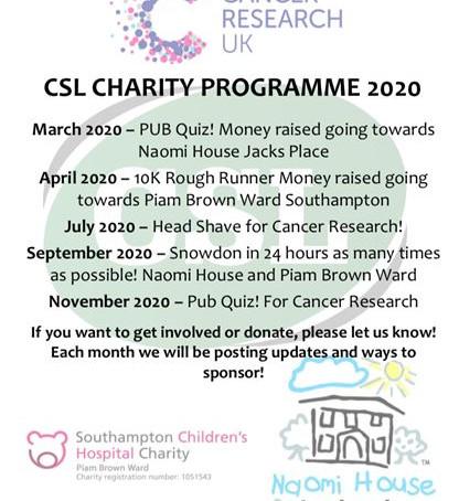 CSL Charity Programme 2020