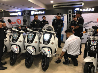 GYH E-Vehicle donates electric motorcycles to cops