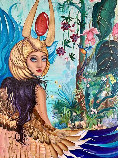 Isis, goddess. Oil on canvas.