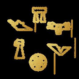 Six pins set