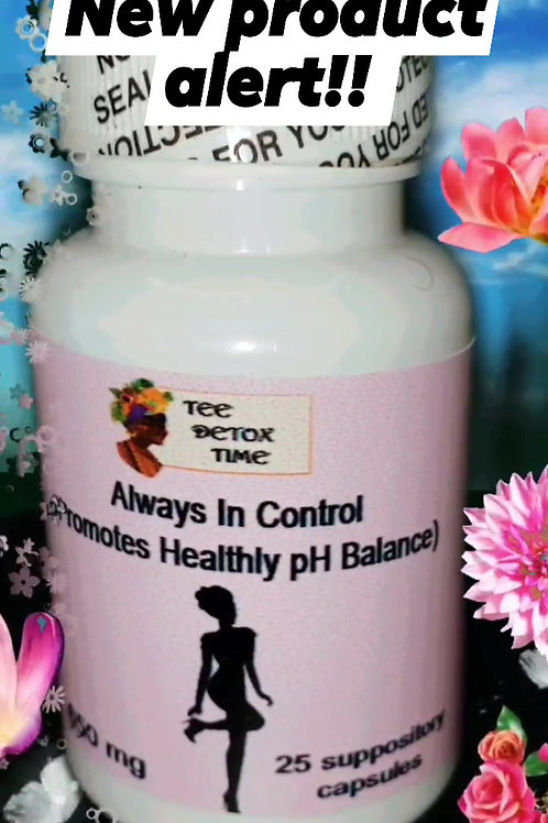 Always in control (Promotes Healthy PH balance)