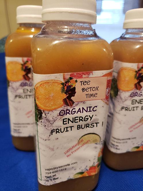 Organic fruit energy immune booster drink